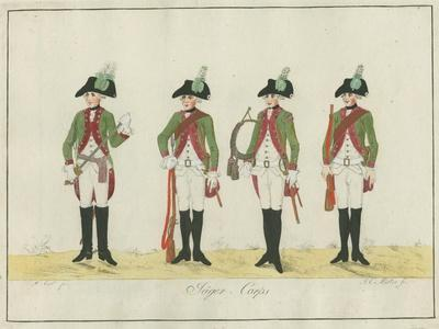 Jager Corps, Hesse-Cassel, C.1784