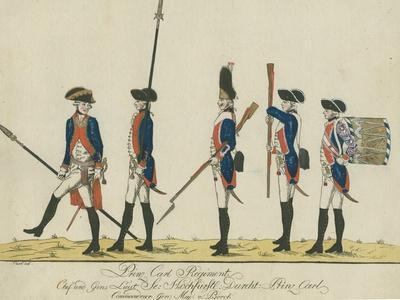 Prinz Carl Regiment, C.1784