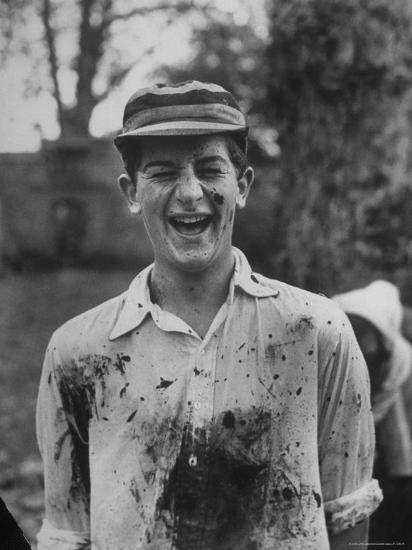 J.H.D. Briscol Having a Mud Splattered Face and Shirt After Informal Game of Football-Cornell Capa-Photographic Print