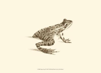 Sepia Frog II by J. H. Richard