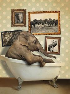 Elephant in Tub by J Hovenstine Studios