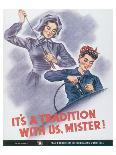 Rosie the Riveter-J^ Howard Miller-Art Print