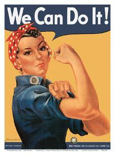 We Can Do It - Rosie the Riveter by J^ Howard Miller