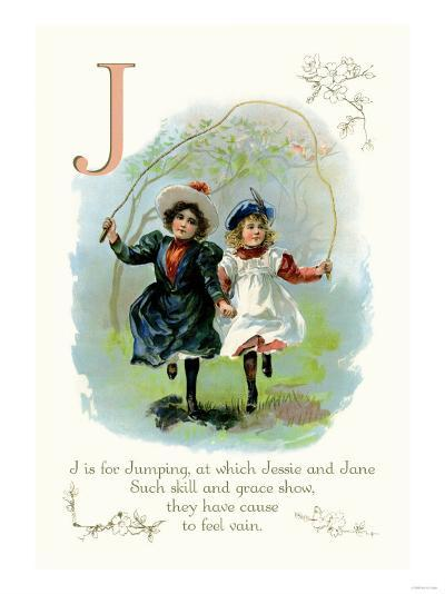 J is for Jumping--Art Print
