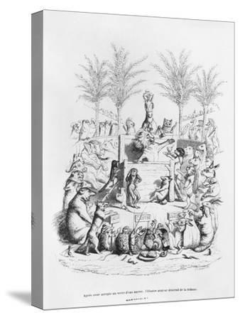 After Having a Glass of Sugar Water, the Famous Orator Comes Down the Platform', Illustration…
