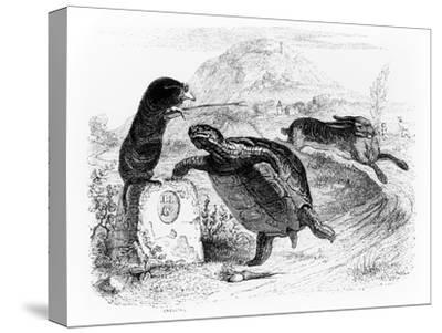 The Hare and the Tortoise, Illustration for 'Fables' of La Fontaine, Published by H. Fournier…