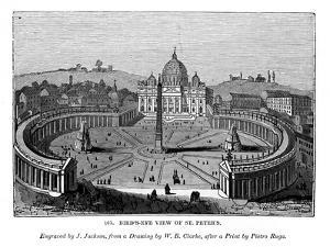 Bird's Eye View of St Peter'S, 1843 by J Jackson
