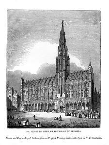 Hotel De Ville, or Town Hall of Brussels, 1843 by J Jackson
