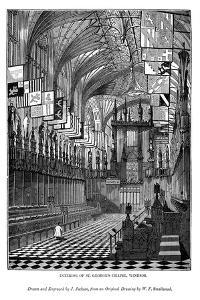 Interior of St George's Chapel, Windsor, 1843 by J Jackson