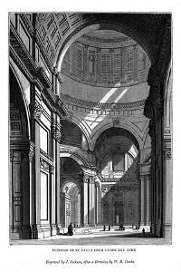 Interior of St Paul's from under the Dome, 1843 by J Jackson