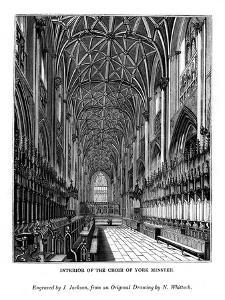 Interior of the Choir of York Minster, C1830-1860 by J Jackson