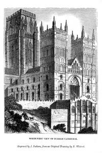 North West View of Durham Cathedral, 1843 by J Jackson