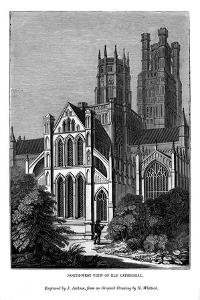 North West View of Ely Cathedral, 1843 by J Jackson