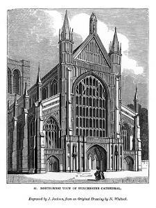 North West View of Winchester Cathedral, 1843 by J Jackson