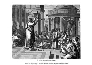 Paul Preaching at Athens, 1843 by J Jackson