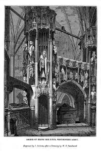Shrine of Henry V, Westminster Abbey, 1843 by J Jackson