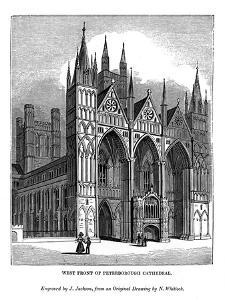 West Front of Peterborough Cathedral, 1843 by J Jackson