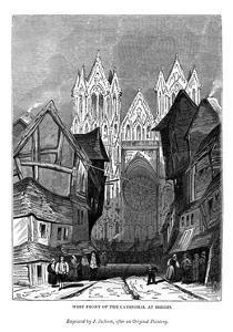 West Front of the Cathedral at Rheims, 1843 by J Jackson