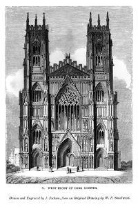 West Front of York Minster, C1820-1830 by J Jackson