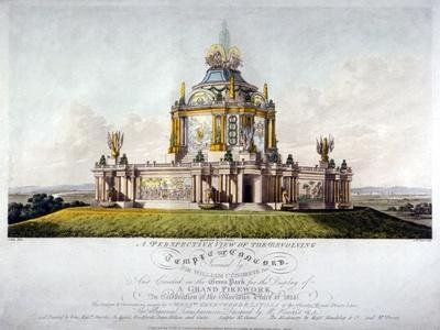 Temple of Concord, Green Park, Westminster, London, 1814