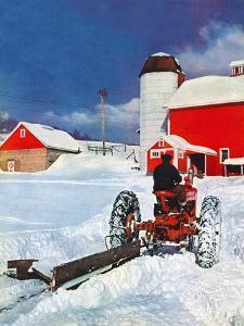 """Plowing Path to the Barn,""January 1, 1947 by J. Julius Fanta"