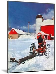 """""""Plowing Path to the Barn,""""January 1, 1947 by J. Julius Fanta"""