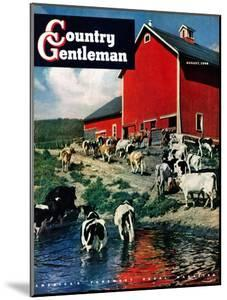 """When the Cows Come Home,"" Country Gentleman Cover, August 1, 1948 by J. Julius Fanta"