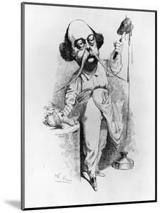 "Gustave Flaubert Dissecting Madame Bovary, Illustration from ""Parodie"", December 1869 by J. Lemot"
