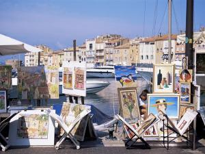 Artists' Paintings for Sale, St. Tropez, Var, Cote d'Azur, French Riviera, Provence, France by J Lightfoot
