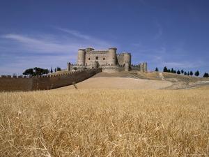 Castle and Walls, Belmonte, Castilla La Mancha, Spain by J Lightfoot