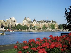 Empress Hotel and Innter Harbour, Victoria, Vancouver Island, British Columbia, Canada by J Lightfoot