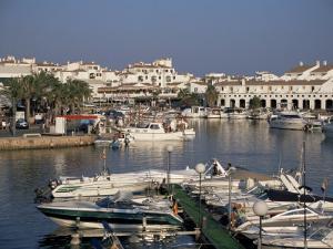 Marina, Cala En'Bosch, Menorca, Balearic Islands, Spain, Mediterranean by J Lightfoot