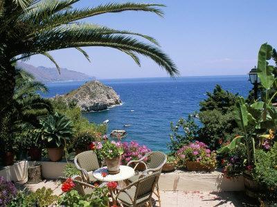 Mazzaro Beach, Taormina, Island of Sicily, Italy, Mediterranean