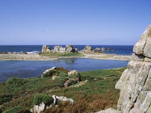 Rocks and Coast, Pors Bugalez, Brittany, France by J Lightfoot