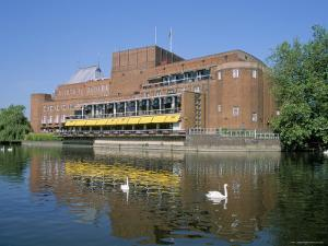Royal Shakespeare Theatre and River Avon, Stratford Upon Avon, Warwickshire, England by J Lightfoot