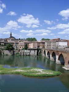 The Town of Albi, Tarn River, Tarn Region, Midi Pyrenees, France by J Lightfoot