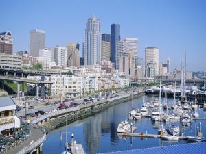 Waterfront and Skyline of Seattle, Washington State, USA by J Lightfoot