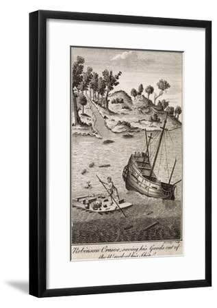 Robinson Crusoe Salvages Goods from the Wrecked Ship