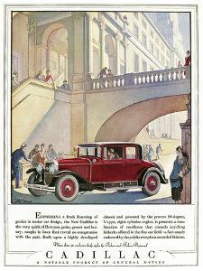 Cadillac Ad, 1928 by J.M. Cleland