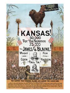 Kansas! for James G Blaine. by J.M.W. Jones Sta'y & P't'g Co