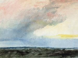 A Rainstorm at Sea by J^ M^ W^ Turner
