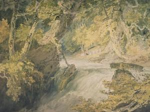 A River in Spate, C.1796 by J^ M^ W^ Turner