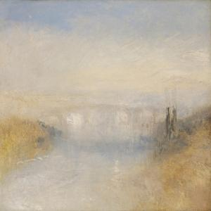 A River Seen from a Hill by J^ M^ W^ Turner