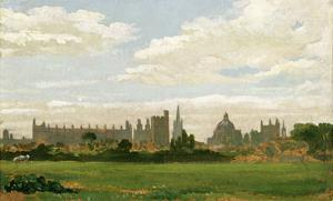 A View of Oxford (Oil on Millboard) by J. M. W. Turner