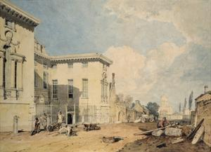 A View of Worcester College, 1803-04 (W/C over Graphite on Off-White Paper) by J. M. W. Turner