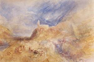 A Village in the Alps, Sion, C.1846 by J. M. W. Turner