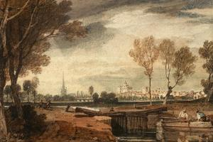 Abingdon, Oxfordshire, C.1805 by J^ M^ W^ Turner