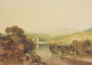 Addingham Mill on the Wharfe, West Yorkshire, C.1808 by J. M. W. Turner