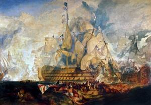 Battle of Trafalgar, 21 October 1805 by J. M. W. Turner
