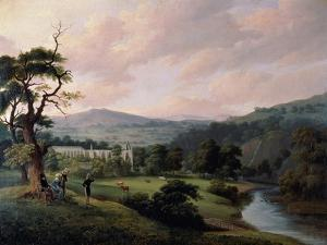 Bolton Abbey from the River Wharfe by J^ M^ W^ Turner